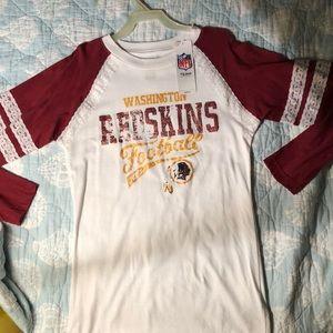 long sleeve redskins NFL shirt